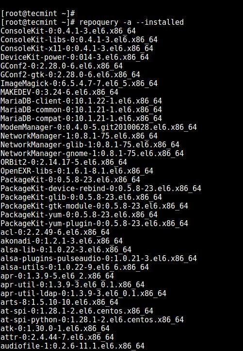 فهرست کردن بسته های نصب شده در لینوکس