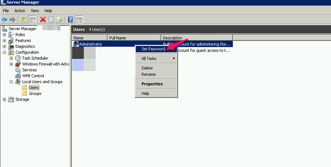 تغییر رمز عبور مدیر در ویندوز سرور 2008R2 و 2012